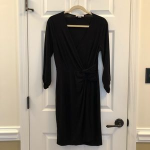 WHBM Black Dress Size Medium LBD Elastic Waist 188